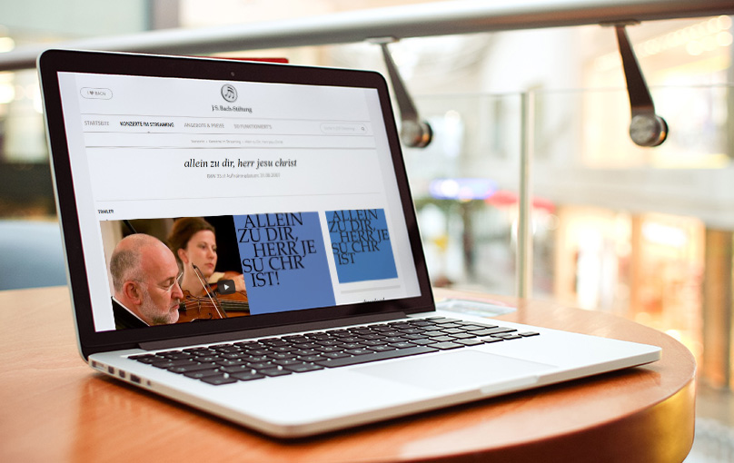 Bach-Stiftung Website