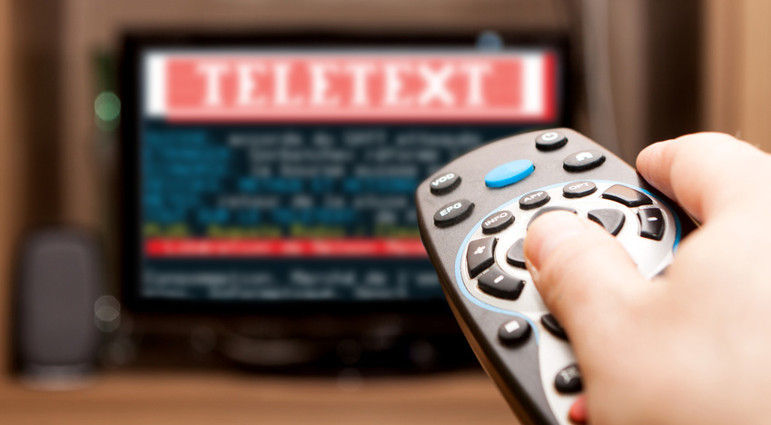 Remote control and Teletext on the TV